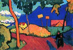 Towards Evening - Gabrielle Münter - 1909