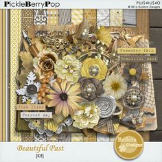 This digital scrapbooking kit includes: <br /> <br />60 Elements <br />16 papers (12 patterns, 4 solids) <br />4 Clusterings <br />All in 300 dpi <br />Not everything is shown on the preview.