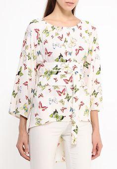 Блузка в стиле кармен с принтом бабочки http   fas.st JRDIa 366fd45058439
