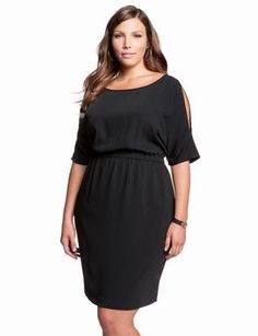 Exposed Sleeve Dress | Plus Size Date & Cocktail Dresses | eloquii by THE LIMITED