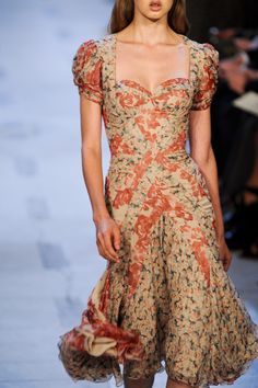 Zac Posen at NYFW Spring 2013 - always love a great floral dress...