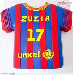 UNICEF, koszulka, tort w kształcie t-shirta, t-shirt, tort urodzinowy, śmieszne torty, Tarnów
