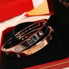 Cartier LOVE bracelets. There are a pair of these that are given down from generation to generation in my family