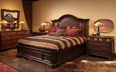 TS BERRY 302 With strong lines and lavish detail, Antilles possesses an exotic beauty that will transform any room. Hardwoods and heavy moldings are generously burnished and, for added flair, gold-tipping is applied to the moldings. Inlaid-burl is featured on all of the case pieces and full-grain leather panels adorn the bed Gold Tips, Exotic Beauties, Bedroom Furniture, Hardwood, Moldings, Bed Room, Berry, Strong, Detail