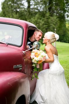 ...itd be his truck cause he'd have to have a wedding picture with is truck