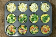 Breakfast Egg Muffins (With 3 Variations) A fast and healthy breakfast option, these breakfast egg muffins offer variety, easy, and nutrition to your morning routine. Perfect for meal prep! Healthy Meal Prep, Healthy Recipes, Veggie Recipes, Keto Recipes, Healthy Breakfast Options, Healthy Breakfasts, No Bake Snacks, Breakfast Muffins, Paleo Breakfast