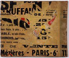 Jacques Villeglé, Rue de Mézières, 13 February 1961, décollage mounted on canvas