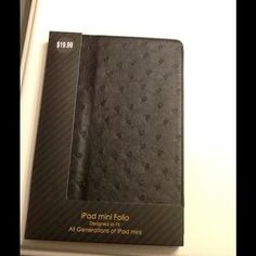 I just discovered this while shopping on Poshmark: Black iPad mini folio. Check it out! Price: $12 Size: iPad mini, listed by gabby_13