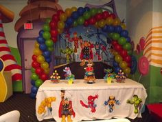 Super Hero Squad/Marvel Characters / Birthday / Party Photo: