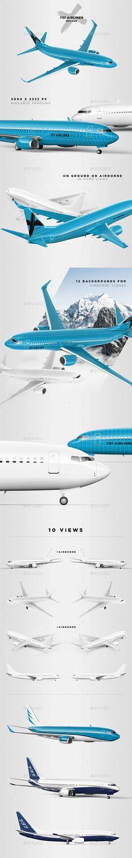 737 Jet Airliner Mockup фон-объект
