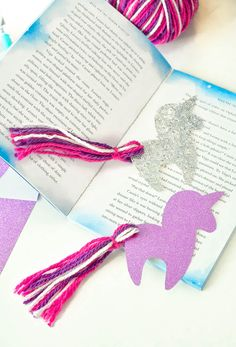 DIY Unicorn Bookmark with Free Unicorn Printable : diy unicorn bookmark printable tassel tail Bookmarks Diy Kids, Bookmark Craft, Tassel Bookmark, Summer Crafts, Diy Crafts For Kids, Easy Crafts, Unicorn Crafts, Horse Crafts, Unicorn Diys