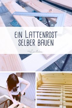 DIY - Lattenrost selber bauen, einfach und preiswert. Tutorial mit Materialliste Magazine Rack, Diy And Crafts, Camping, Bedroom, Storage, Interior, Furniture, Home Decor, Beds