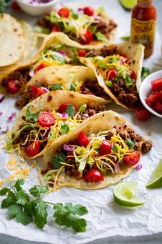 Ground Beef Tacos And 10 More Taco Recipes! The Food Lab Rapido: Mexican Chorizo Tacos Serious Eats. Creative Taco Combinations And Recipes. Home and Family Ground Beef Taco Dip, Ground Beef And Cabbage, Slow Cooker Ground Beef, Soup With Ground Beef, Ground Beef Recipes, Beef Recipes For Dinner, Real Food Recipes, Cooking Recipes, Keto Beef Stew