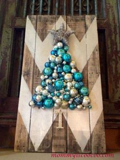 Love this idea... 12 Cheerful Pallet Projects That Welcome Christmas - CountryLiving.com