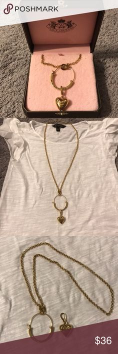 Juicy couture Necklace Juicy couture necklace. This necklace comes with a removable charm and can be worn multiple ways. Very cute and hard to find. Juicy Couture Jewelry Necklaces