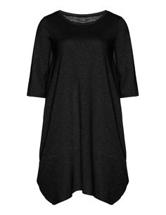Cotton dress in A-line by Isolde Roth at navabi designer fashion store. Designer Fashion in sizes 12 to 28.