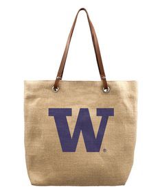 Look what I found on #zulily! Washington Huskies Burlap Market Tote by Little Earth #zulilyfinds