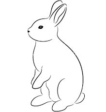 Image result for bunny outline