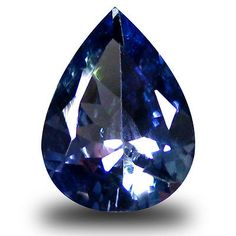 Tanzanite 4195: 0.92 Ct Aaa Exquisite Pear Shape (8 X 6 Mm) Greenish Blue Tanzanite Gemstone BUY IT NOW ONLY: $34.99