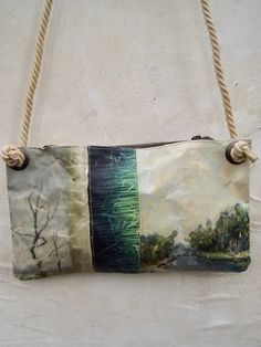 Image of ONE OF A KIND PAINTING BAG - CANAL (free shipping)