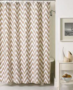 Kassatex Bath Accessories, Chevron Shower Curtain -  - Macy's