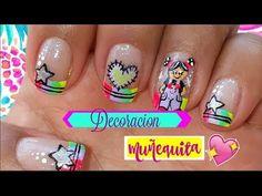 ♥Decoración de uñas muñeca♥ - Doll nail art - YouTube Stiletto Nails, Swag Nails, Manicure, Nail Designs, Nail Art, Youtube, Beauty, Videos, Gel Nail