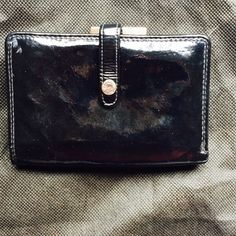 """Franco Sarto patent wallet Genuine patent leather wallet in black by Franco Sarto. 5.5"""" x 3.75"""" x 0.75"""". Some signs of use inside. Franco Sarto Bags Wallets"""