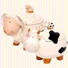Lam or Cow Ceramic Paper Holder 양/젖소 도자기 티슈홀더