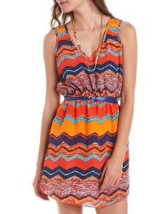 Belted Strappy Back A-Line Dress: Charlotte Russe