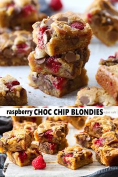 Like a white brownie these Raspberry Chocolate Chip Blondies are rich fudgy and totally scrumptious. This simple recipe takes just a few minutes and one bowl. You wont be able to stop at one. Brownie Recipes, Chocolate Recipes, Cookie Recipes, Dessert Recipes, Baking Chocolate, Raspberry Cookies, Raspberry Recipes, Raspberry Chocolate, Sweets