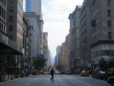 Het verkeer op Fifth Avenue