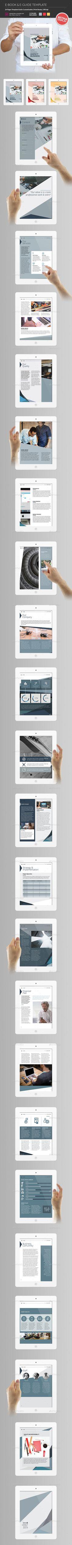 Corporate E-Book & E-Brochure Template InDesign INDD. Download here: https://graphicriver.net/item/corporate-ebook-ebrochure/16989920?ref=ksioks