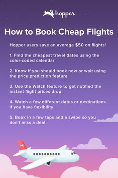 Hopper tells you when to fly & buy! Save up to on your next flight. Travelling for your wedding, to a fashion show or a sports event? Watch & book cheap flights with Hopper! Vacation Trips, Dream Vacations, Vacation Spots, Weekend Trips, Time Travel, Travel Tips, Travel Hacks, Travel Advice, Budget Travel