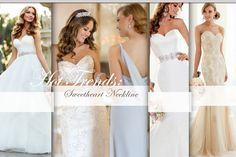 Stella York Wedding Dresses:  5601 (satin) and 5615 (organza)