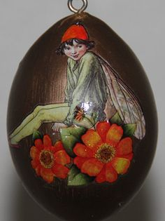 Fairy hand-painted on gourd