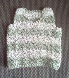 Olive and cream organic cotton baby vest by BabyAgapeBlessings, $25.00