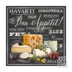 Gourmet Cheese Collection Canvas Art – Chad Barrett x – Wall Products Gourmet Cheese, Wine Cheese, Posters Vintage, Vintage Labels, Chad Barrett, Cheese Dessert, Dessert Plates, Plakat Design, Decoupage Paper