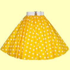 Yellow with White Polkadot Circle Skirts from £21.50