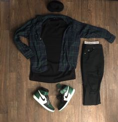 Dope Outfits For Guys, Swag Outfits Men, Tomboy Outfits, Casual Outfits, Fashion Outfits, Flannel Outfits, Mens Fashion, Hype Clothing, Mens Clothing Styles