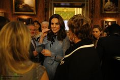 The Duchess of Cambridge returned to public engagements to mark  World Mental Health Day  with Princes William and Harry at a Buckingham Pal...
