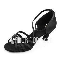 Shoes - $14.99 - Women's Satin Heels Sandals Latin Ballroom Dance Shoes (053012980) http://amormoda.com/Women-S-Satin-Heels-Sandals-Latin-Ballroom-Dance-Shoes-053012980-g12980