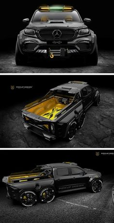 Six-Wheel Racing Pickup Is One Monstrous Creation Cool Sports Cars, Sport Cars, Cool Cars, Armored Truck, Mercedes Benz Cars, Best Luxury Cars, Futuristic Cars, Modified Cars, Armored Vehicles