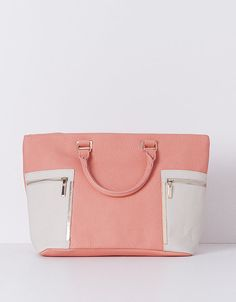 Shopper bicolor fecho duplo · 29X46CM   SHOP ONLINE SUITEBLANCO.COM