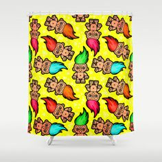 Shop chobopop's store featuring unique designs on various products across art prints, tech accessories, apparels, and home decor goods. Troll Dolls, Tech Accessories, Reusable Tote Bags, Curtains, Throw Pillows, Art Prints, Pattern, Shower, Design