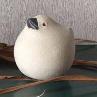 Keramik Spatz Gute Miene natur Spatzen von Susanne Boerner