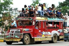 Davao Jeepney Jeepneys are the most popular and inexpensive modes of public transportation in the Philippines. Philippines Culture, Philippines Travel, Timor Oriental, Philippine Holidays, Jeepney, Military Jeep, Filipino Culture, Exotic Beaches, Tropical Beaches