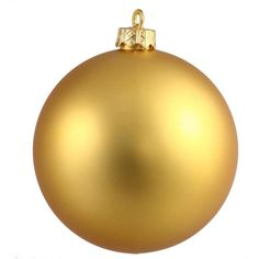 "Matte Antigue Gold UV Resistant Commercial Shatterproof Christmas Ball Ornament 4"""" (100mm)"