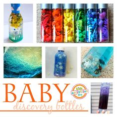 One year old activities that you can put in baskets, bottles, and bins for baby to explore! Such simple, fun ideas.