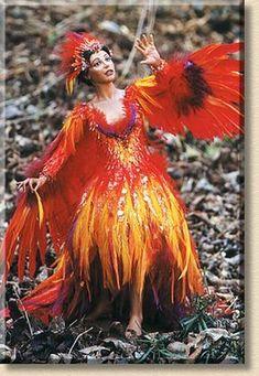 Fire Costume, Doll Costume, Firebird, Mardi Gras Costumes, Halloween Costumes, Halloween Ideas, Pheonix Costume, Flower Costume, Fairy Clothes