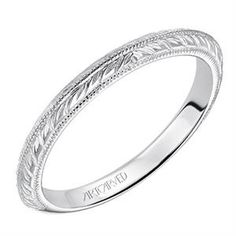 Shop online ARTCARVED RAD-16936 Plain Straight White Gold Womens Wedding bands  at Arthur's Jewelers. Free Shipping